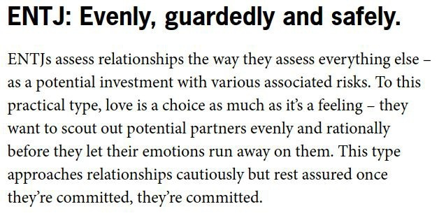 How would each MBTI type define love in one word? - Quora