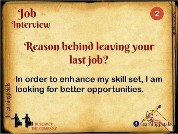 ... Interview Questions And Their Respective Answers To Help You Out : 1.  What Is The Reason Behind Leaving Your Previous Job?