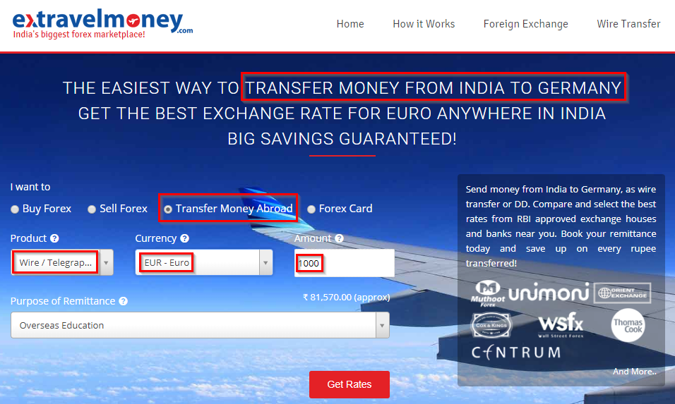 Easiest Money Transfer From India To Germany Extravelmoney
