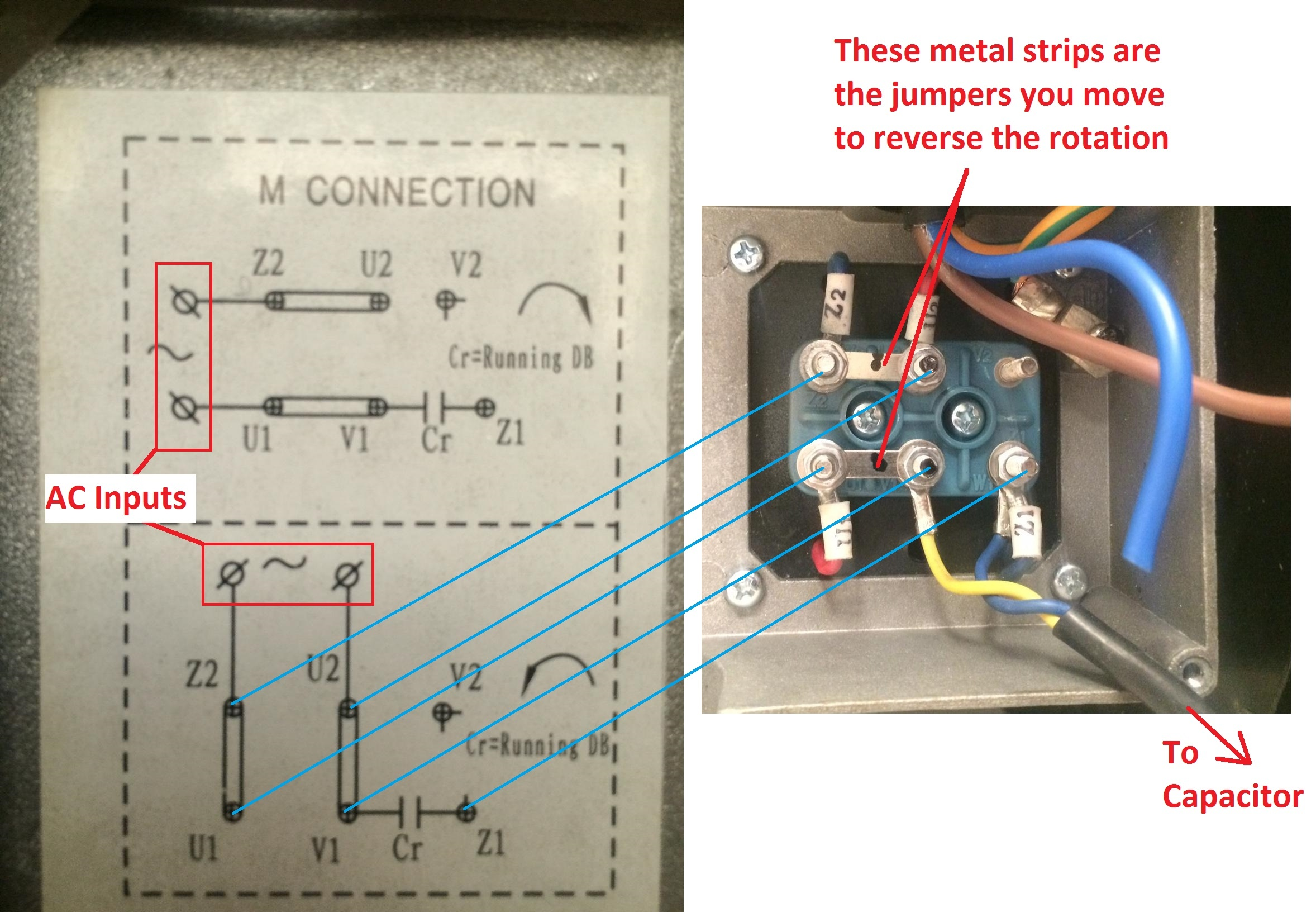 how to reverse the rotation of single phase 220v motor quora 240vac single phase wiring diagram references how to wire up a single phase
