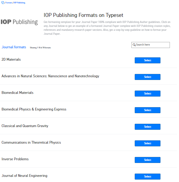 Where can I find the Word template for IOP Publishing journals for ...
