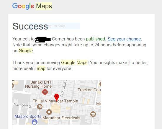 Change Home Google Maps on