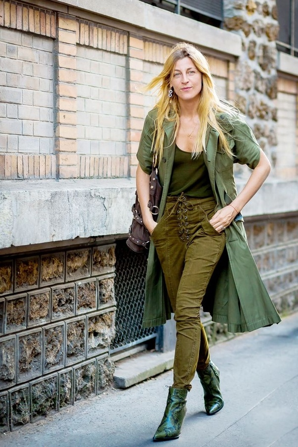 olive green dress what color shoes