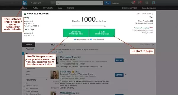 how to scrape public profile urls and connections from linkedin