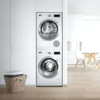 Can a dishwasher be placed above a washing machine (Bosch