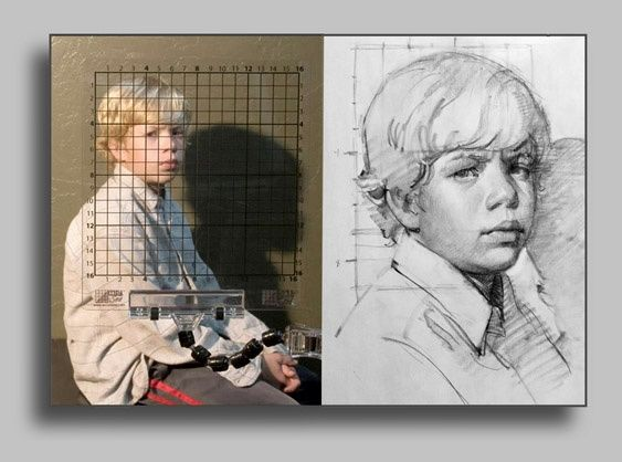 how to draw a portrait sketch of large size with equal proportion