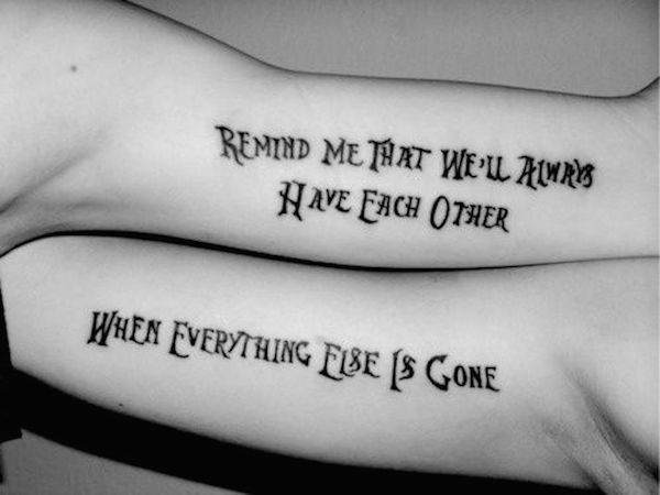 What are some cool best friend tattoos? - Quora