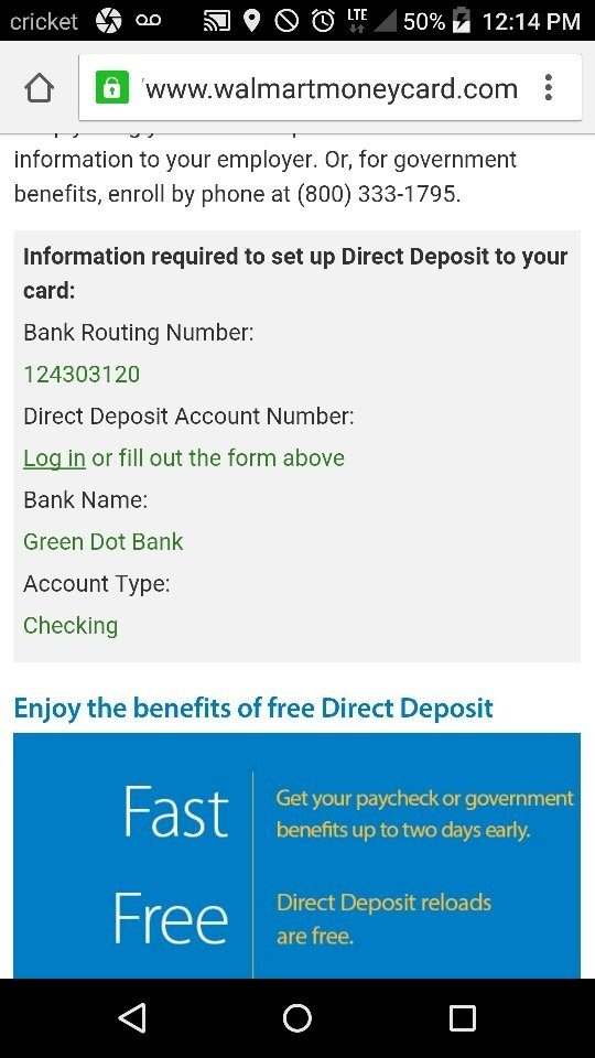 How to sign up for direct deposit with Walmart - Quora
