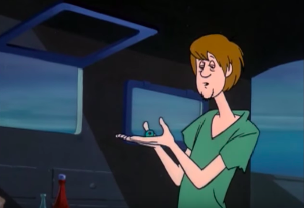 Spilled when did drink scooby doo his he say what SkuB2, a