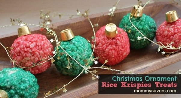 Rice Krispies Ornaments Plus The Fact They Re So Festive And Adorable Come On I Know You Love Them Christmas Treats Holiday