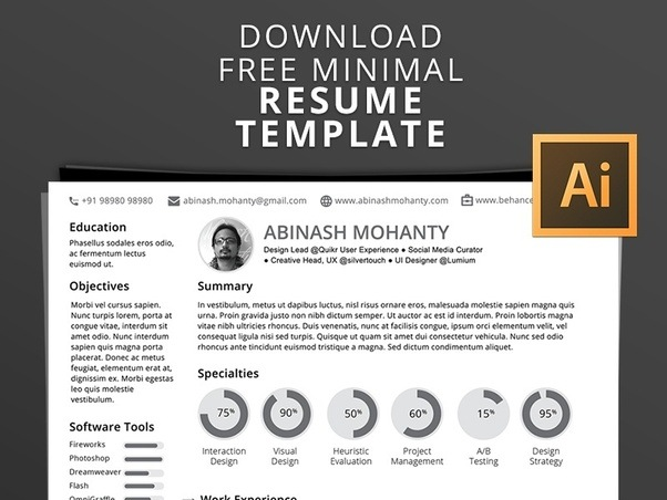 How to find an artistic resume template - Quora