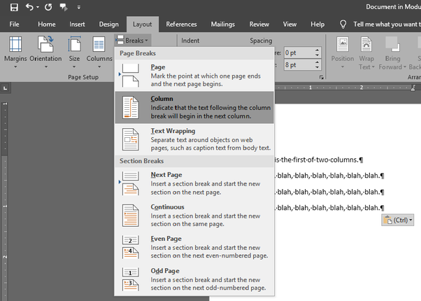 How to make columns on WordPad? What are some examples - Quora  How to make col...