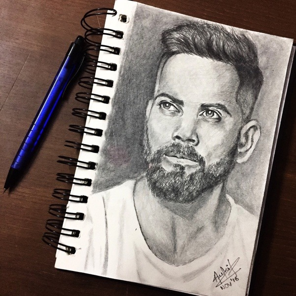 This is a portrait i did using just the hb mechanical pencil by adding on layers of shading one above another to create a contrast between light and dark