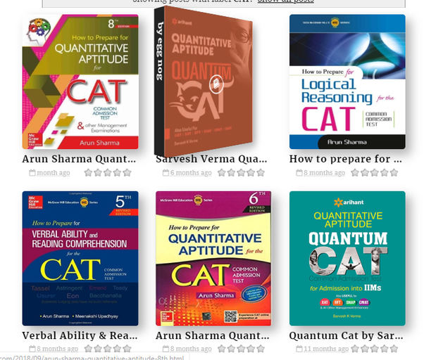 Arun Sharma Cat Quant Ebook