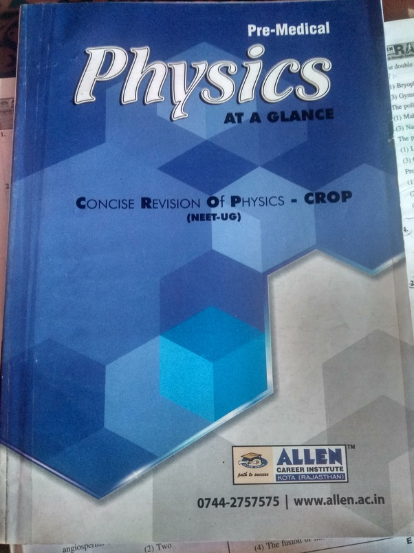 How to get ALLEN Physics CROP - Quora