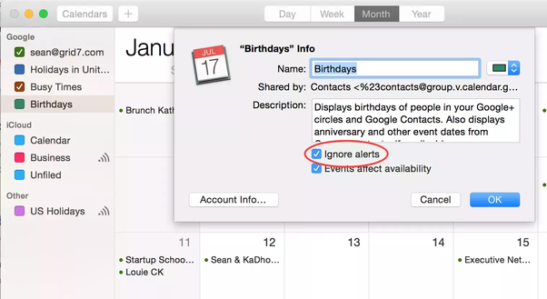 How to turn off birthday notifications on my Mac - Quora