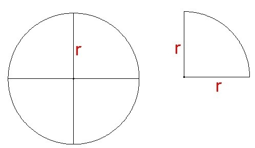 How to find the perimeter of a quarter circle quora ccuart Choice Image