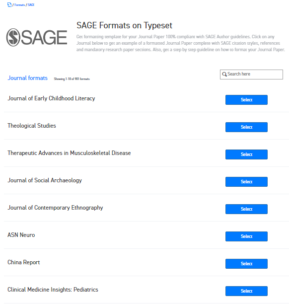 Where can I find the Word template for SAGE journals for publishing ...