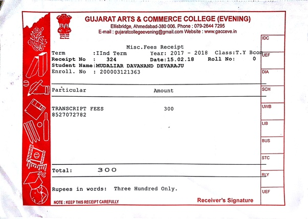 How to get a transcript from Gujarat University - Quora