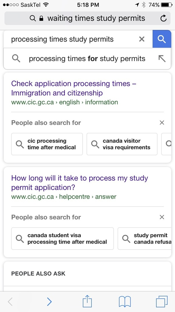 Processing Time For Canada Student Visa idea gallery