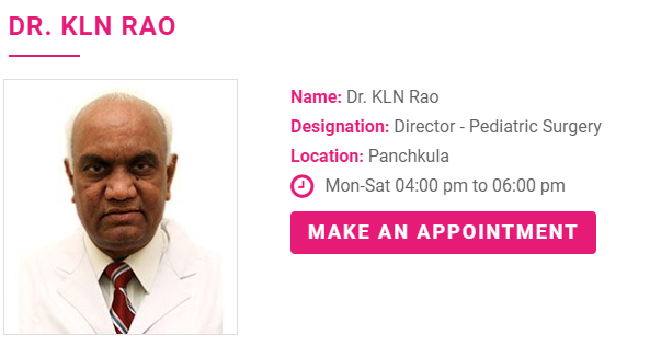 Who is a good pediatric urologist in Chandigarh or near