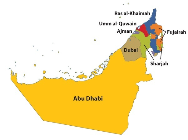 its strategic geographic location made the town an important trading hub and by the beginning of the 20th century here is a map of emirates
