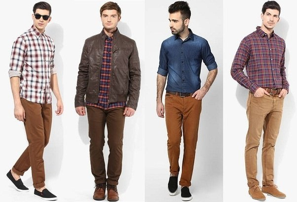 What color shirt should I wear with dark brown pants?