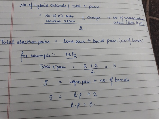 What is the easiest way to find bond pair and lone pair in