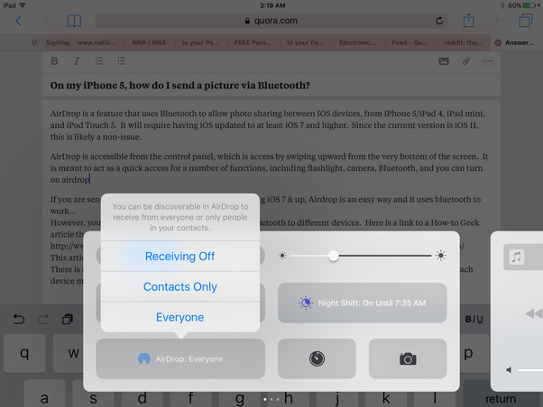 On my iPhone 5, how do I send a picture via Bluetooth? - Quora