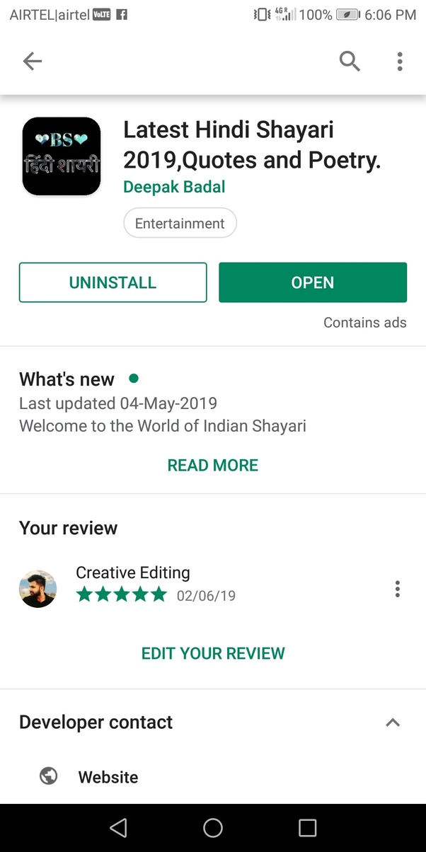 What is the best shayari app? - Quora