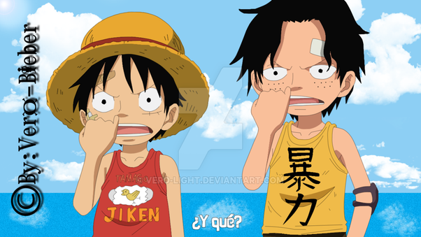 one piece luffy meet ace