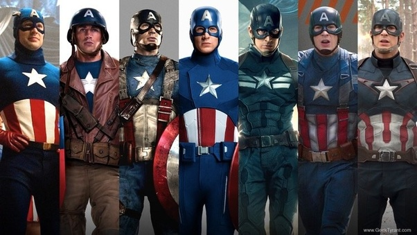 How Would You Rank All The Captain America Suits From The Mcu Quora Happy july 4th to all of mighty marveldom! captain america suits from the mcu