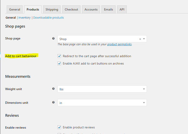 How to redirect to the cart page after a successful product