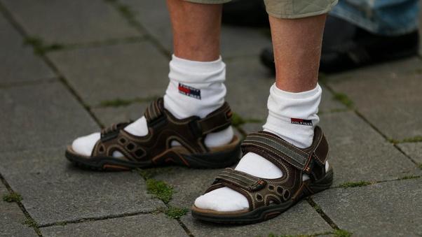Socken sandalen und Home of