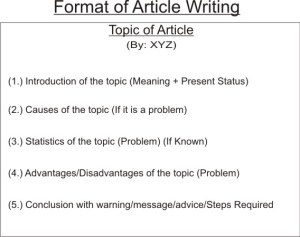 Article writing needed cbse class 9 topics