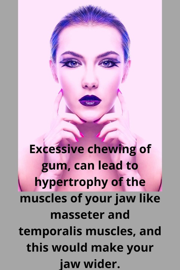 does chewing gum make you lose face fat