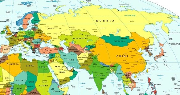 Europa Asia Cartina.Are All Countries In Asia Allied With Europe Is Eurasia All