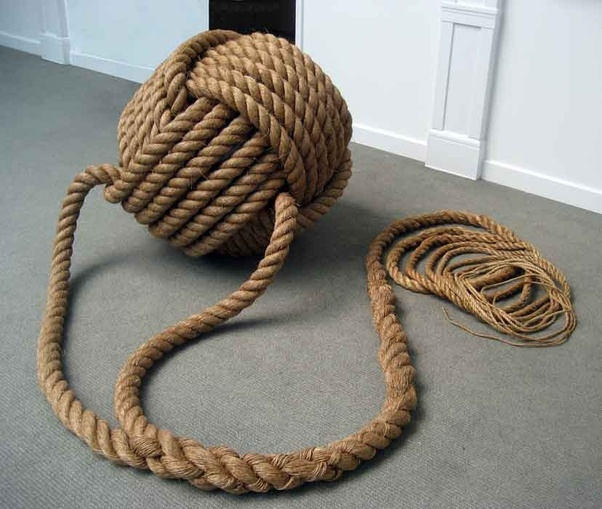 Excellent monkey fist on a rope phrase, matchless)))