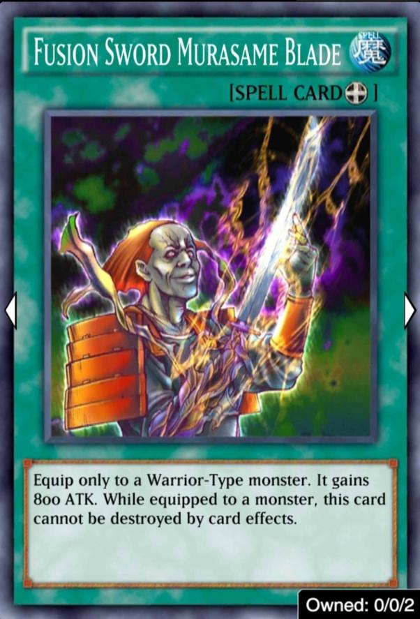 Yugioh Fusion Sword Murasame Blade