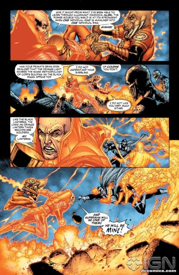 How Strong Is The Orange Lantern And How Strong Are They