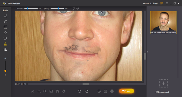Which is the best way to remove moustache from photos? - Quora