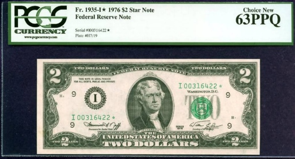 Fr.1935-A* 1976 Boston $2 Star Federal Reserve Star Note