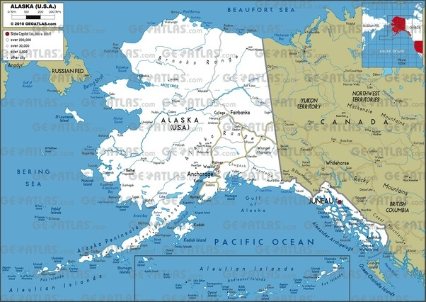 Where is alaska located on the map quora see that group of islands in the box south of the gulf of alaska thats the aleutian islands these should actually be located as an extension of the gumiabroncs Choice Image