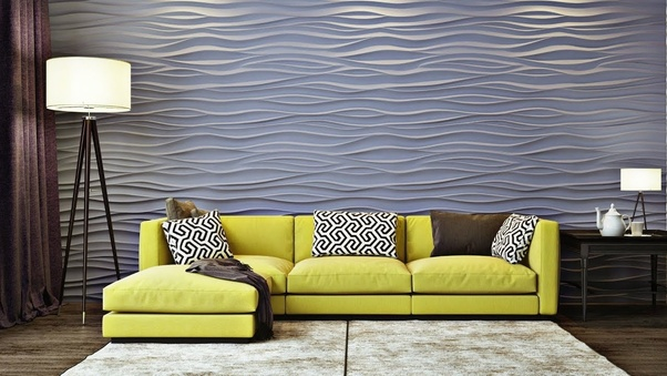 What are the tips to decorate small living room quora - Wall texture paint designs living room ...
