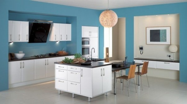 interior design: what is the most suitable color for kitchen's walls