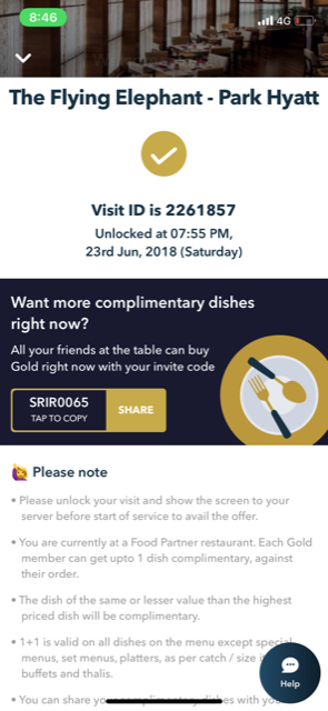 9212f5cb26 I was with my family and we had two Zomato gold subscriptions between us.  All of us were hungry at that point and proceeded to order food assuming  that the ...