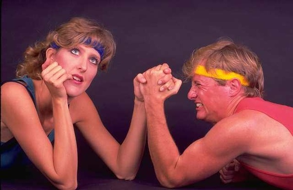 Who would win if we were to arm wrestle? - Quora