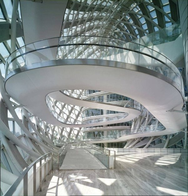 Inside The Designers Studio: Are There Any High-rise Buildings With Continuous Ramps Rather Than Staircases?
