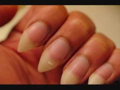 Men with long nails
