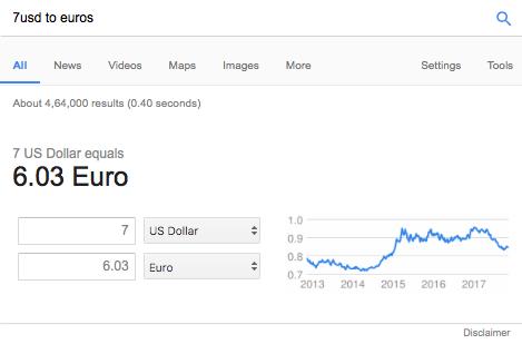 Comment convertir des dollars en euros